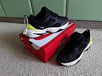 Мужские кроссовки Nike M2k Tekno Black/Volt черный с салатовым