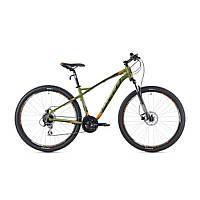 """Велосипед кросс-кантри Spelli SX-5200 650В 27.5"""" (хаки с оранжевым и черным)"""