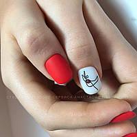 Наклейка для ногтей Силуэт лица