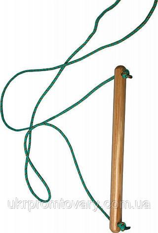 Веревочная качеля трапеция, 1 перекладина, фото 2