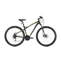 """Велосипед кросс-кантри Spelli SX-5200 650В 27.5"""" (черно-оранжевый с зеленым)"""