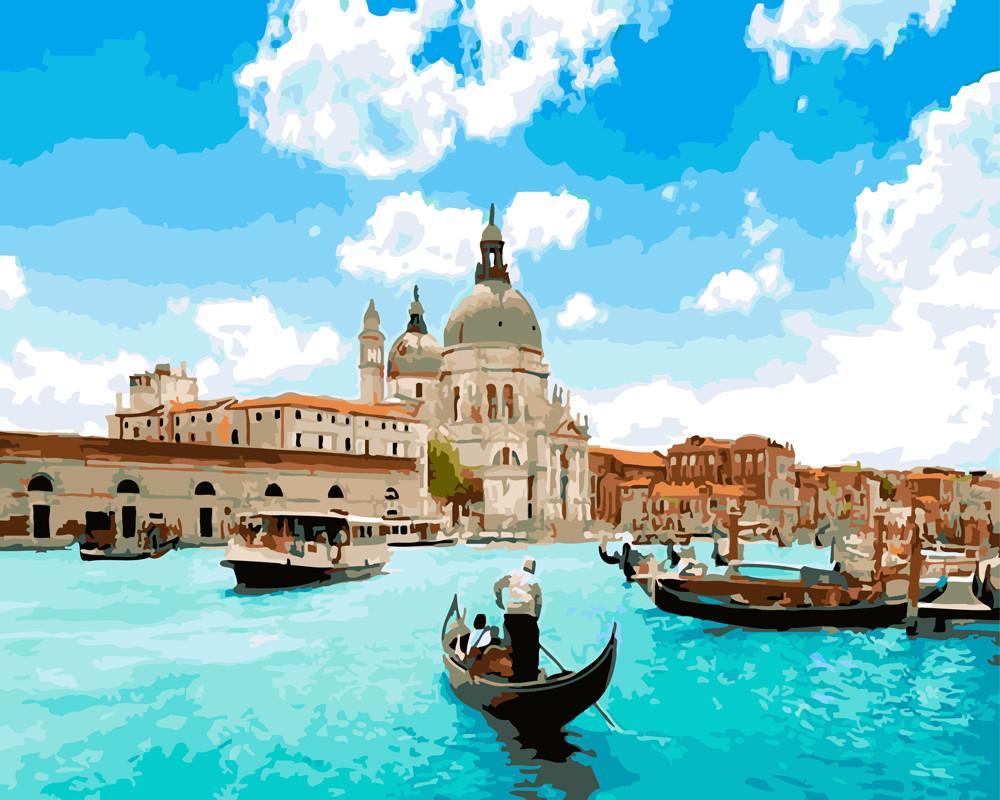 Картина по Номерам 40x50 см. Венеция