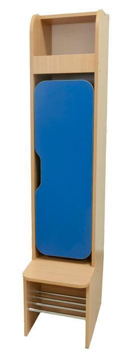 Шкаф детский 1-местный для раздевалки для НУШ, школы, сада