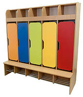Шкаф детский 5-местный для раздевалки для НУШ, школы, сада