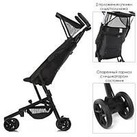 Детская туристическая коляска ME 1033 QWERTY BLACK