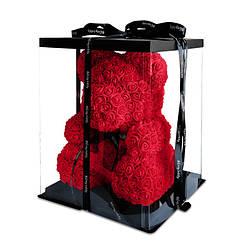 Большой мишка из 3D роз, медведь из искусственных 3D роз 40 СМ