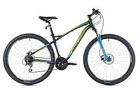 """Велосипед кросс-кантри Spelli SX-5200 650В 27.5"""" (черно-зеленый с синим)"""