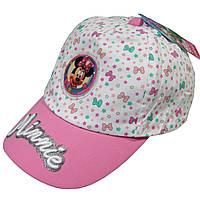 """Летняя кепка для девочки """"Минни Маус"""" от  Disney; 52 см."""