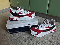 Мужские кроссовки Fila Venom v2 2019 White/Red белые с красным эксклюзив