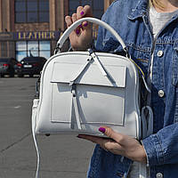 """Женская кожаная сумка-саквояж  """"Элизавет White"""", фото 1"""