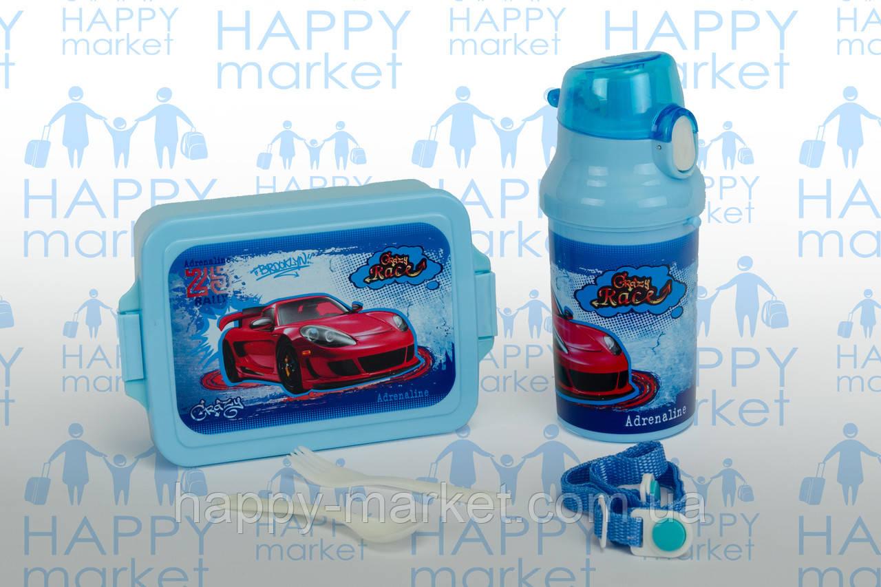 Контейнер для еды- ланч-бокс+Бутылочка для воды Crazy Rese