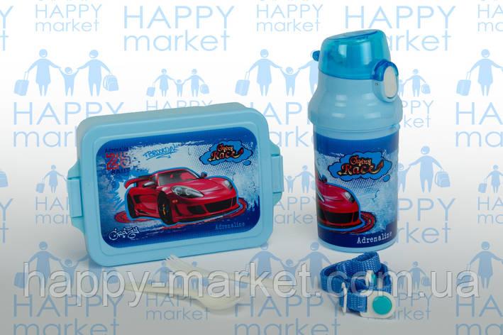 Контейнер для еды- ланч-бокс+Бутылочка для воды Crazy Rese, фото 2