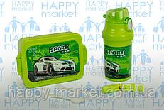 Контейнер для еды- ланч-бокс+Бутылочка для воды Sport car