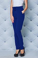 Женские синие брюки высокой посадки