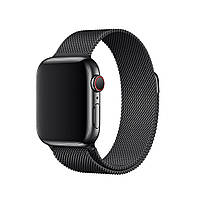 Ремешок металл Milanese Loop for Apple Watch 42/44mm (black)