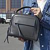"""Женская кожаная сумка-саквояж  """"Элизавет Gray"""""""