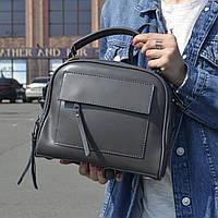"""Женская кожаная сумка-саквояж  """"Элизавет Gray"""", фото 1"""