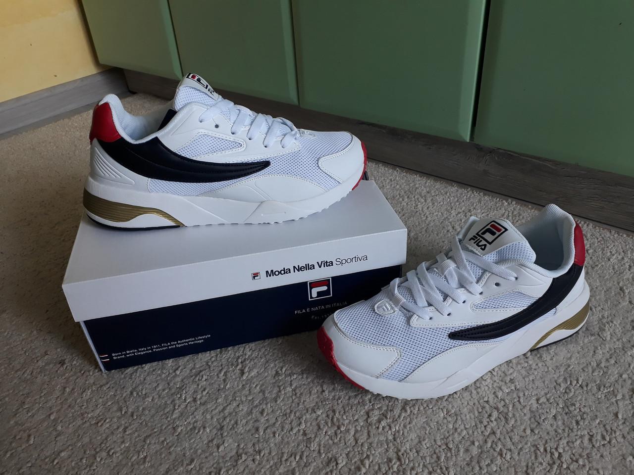1ddd90533de Мужские кроссовки Fila Venom v2 2019 White белые эксклюзив - sinitsa shop -  интернет-магазин обуви