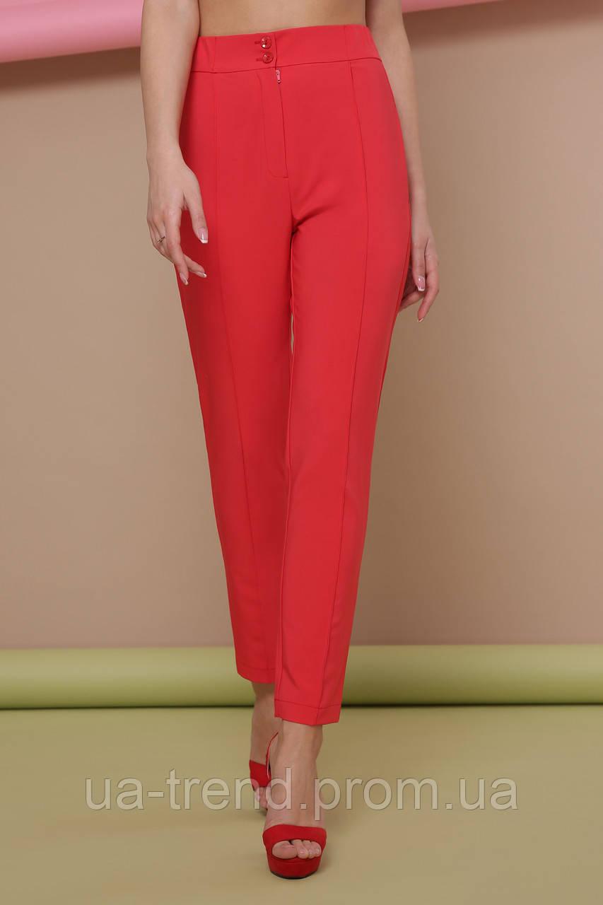 Яркие женские брюки на завышенной талии