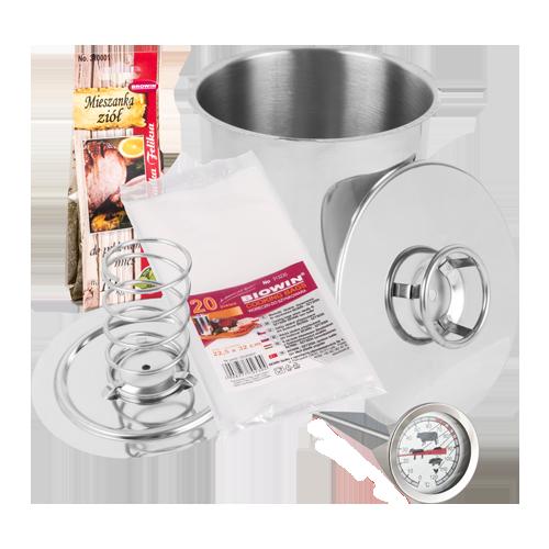 Ветчинница BIOWIN 3,0 кг + термометр+набор пакетов+травы для ветчины Секрет Дедушки Феликса