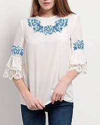Заготовка вишиванки жіночої сорочки та блузи для вишивки бісером Бисерок «Монохромна фантазія» (Б-113р)