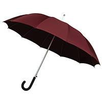 Зонт-трость автомат 12 спиц стекловолокно бордовый Impliva(Голландия)GA320.8070