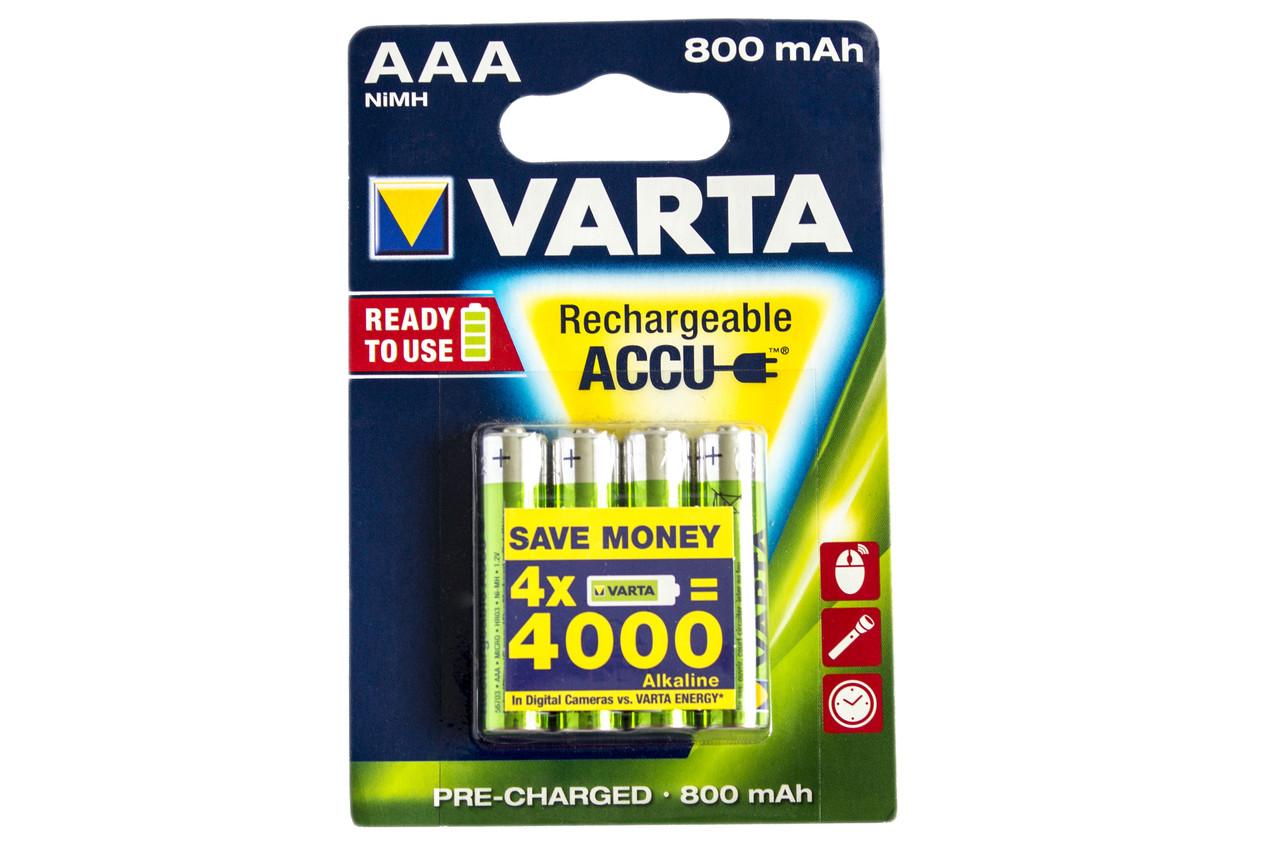 Аккумулятор Varta AAA 800mAh NiMh (4 шт.) Rechargeable Accu
