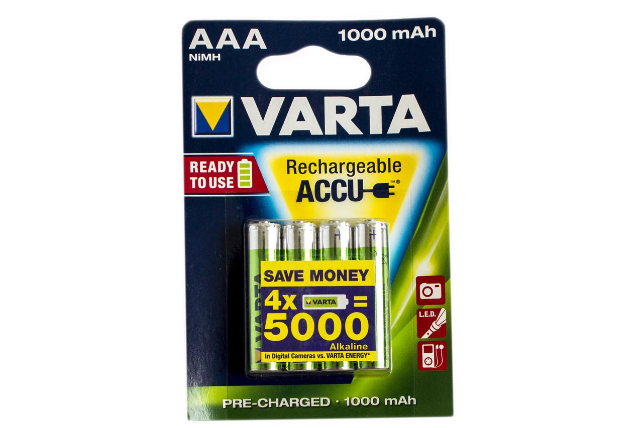 Аккумулятор Varta AAA 1000mAh NiMh (4 шт.) Rechargeable Accu