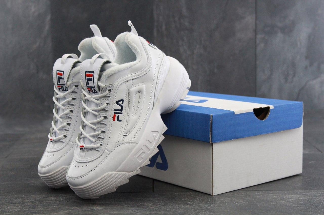 Кроссовки женские Fila Disruptor 2 в стиле Фила Дисраптор 2, белые 38