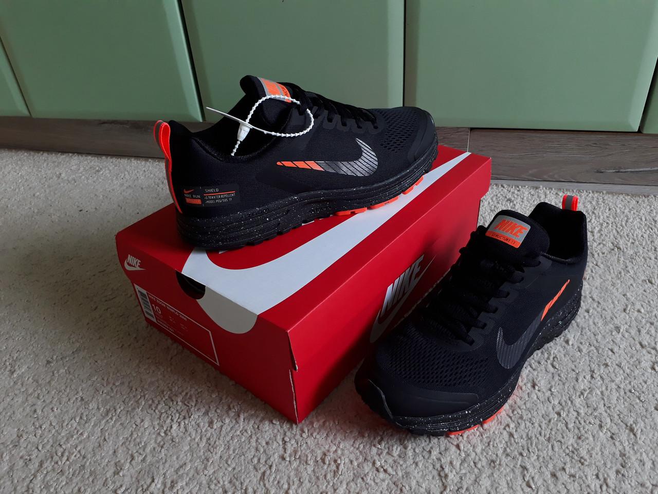 f5b25715 Мужские кроссовки Nike Air Zoom Pegasus 17 Shield Black/Orange черные с  оранжевым эксклюзив 2019