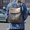 """Женский кожаный рюкзак, сумка """"Алиса Deep Bronze"""""""