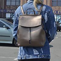 """Женский кожаный рюкзак, сумка """"Алиса Deep Bronze"""", фото 1"""