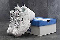 Кроссовки мужские Fila Disruptor 2 в стиле Фила Дисраптор 2, белые