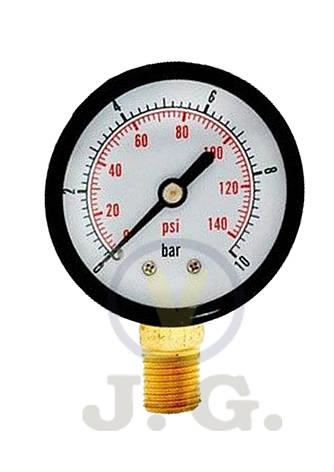 Манометр 1/4 0-4 bar,нижнее подключение (673), фото 2