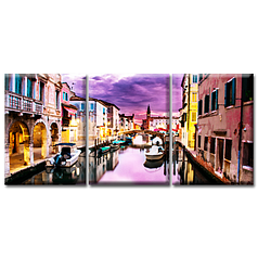 Модульная Картина 3 шт Glozis Purple Dream D-054 50 х 35 см (D-054)