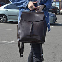 """Женский кожаный рюкзак, сумка """"Алиса Dark Brown"""", фото 1"""