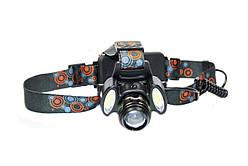 Налобный фонарик BL-2118-Т6+2СОВ 320000W