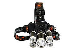Мощный налобный фонарик RJ-5000-T6+4XPE