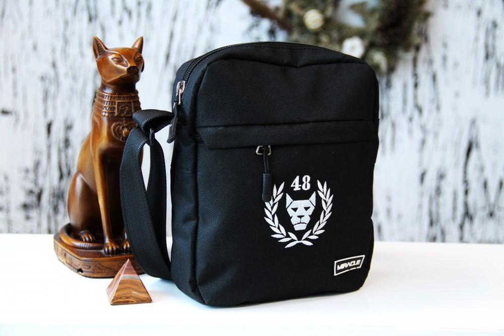 Мужская сумка черех плечо Мессенджер Miracle - Brand48 black