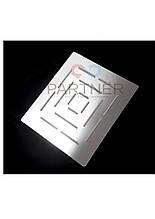 Лійка стельова квадратна нержавійка 200*200 мм (душ стіною) ІЗ-07 ZM