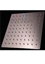 Лійка стельова квадратна нержавійка Ultra Slim силікон 150 мм (тропічний душ) З-07Z(15)
