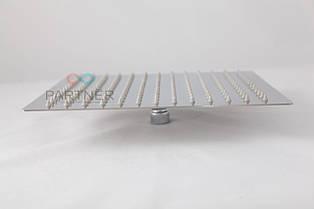 Лійка стельова квадратна нержавійка Ultra Slim силікон 200 мм (тропічний душ) З-07Z(20)