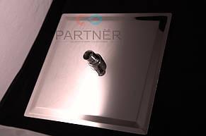 Лейка потолочная квадратная нержавейка Ultra Slim силикон 250 мм (тропический душ) С-07Z(25), фото 2