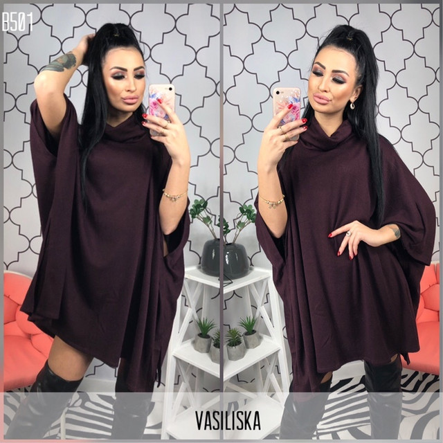 модное вязаное платье оптом