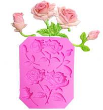 """Молд силиконовый """"Розы"""" - размер молда 11,5*8,8см"""