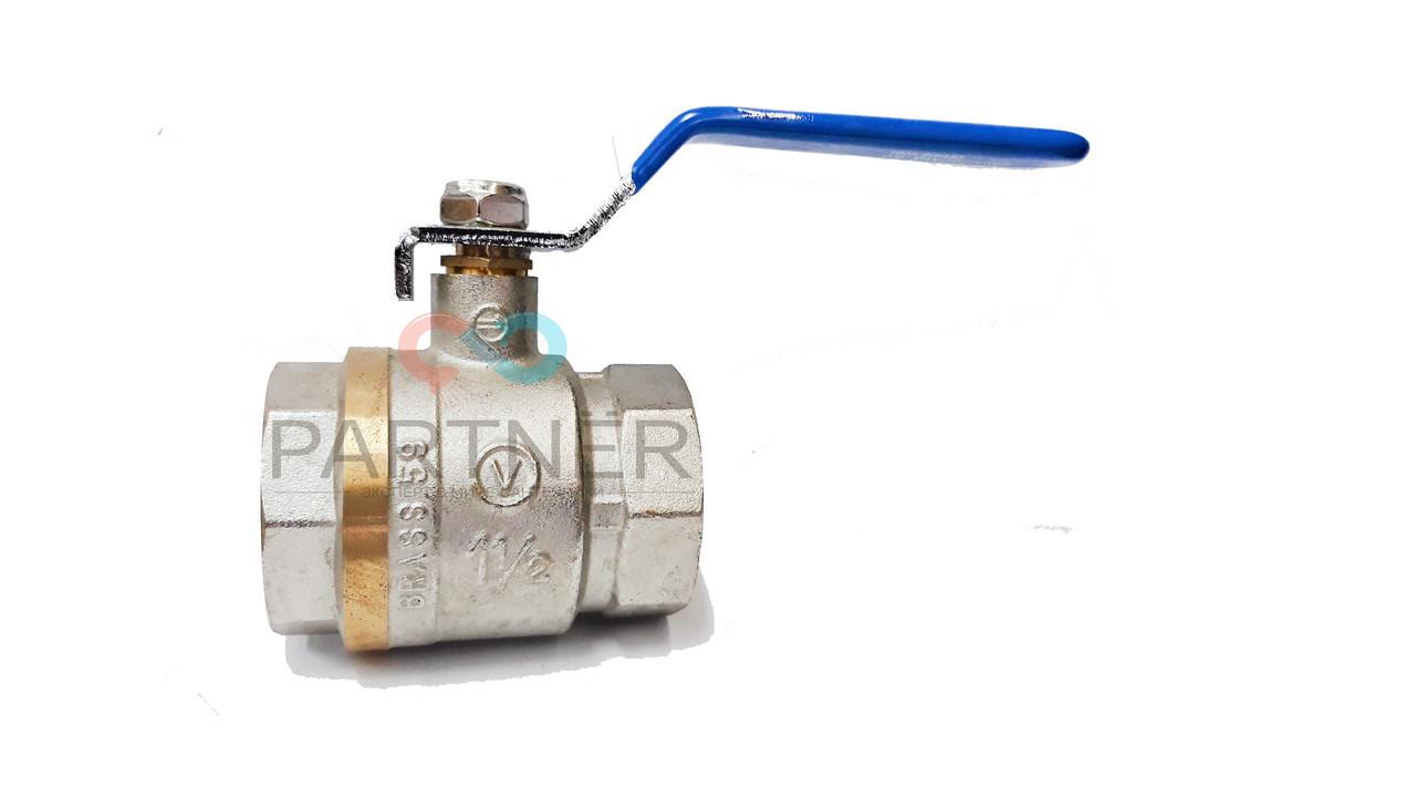Кран шаровый 1-1/2'' вв кр Valve JG (для воды)