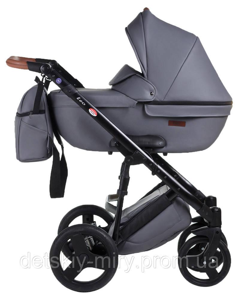 Детская универсальная коляска 2 в 1 Bair Leo кожа - фото 2