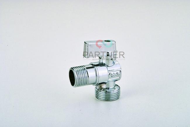 Кран угловой шаровый 1/2''х1/2'' ANGO хром металлическая ручка N9