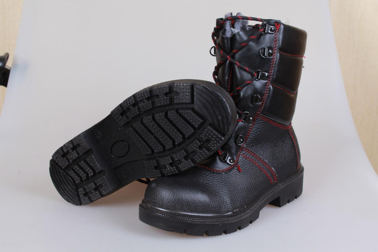 Берцы зимние с стальным носком и литой подошвой