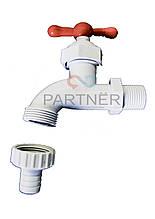 Водоразборный кран 1/2 пластиковый,10см,вентиль ZDM-042